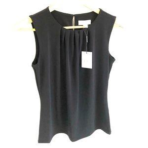 NWT Calvin Klein Black Sleeveless Shirt 2 Petite